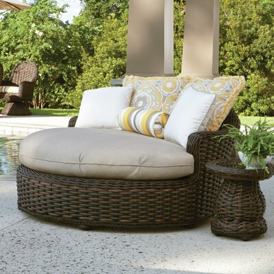 South Hampton Chaise Lounge with Cushion Fabric: Vesper Tamale