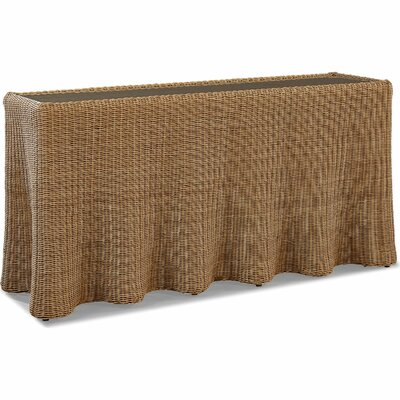 Stylish Wave Wicker Console Table Product Photo