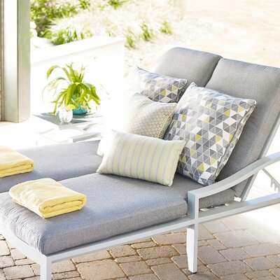 Adjustable Double Chaise Lounge Cushion - Product photo