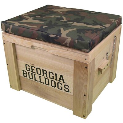 LoBoy Coolers Wood School Deck Box - School: Georgia, Color: Camo at Sears.com