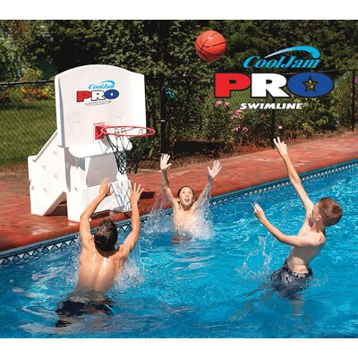 Swimline Cool Jam Pro Poolside Basketball in White NT204
