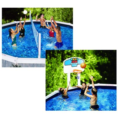 Swimline Pool Jam In-Ground Volleyball / Basketball Combo NT200