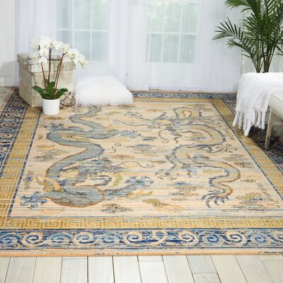 Dynasty Ivory Area Rug Rug Size: Rectangle 56 x 8