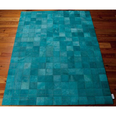 Medley Hand-Woven Blue Area Rug Rug Size: 4 x 6
