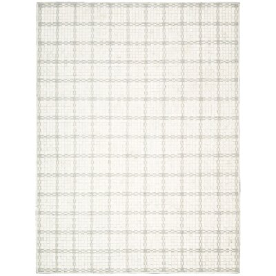 Equestrian Hand-Woven Ivory Area Rug Rug Size: Rectangle 53 x 75