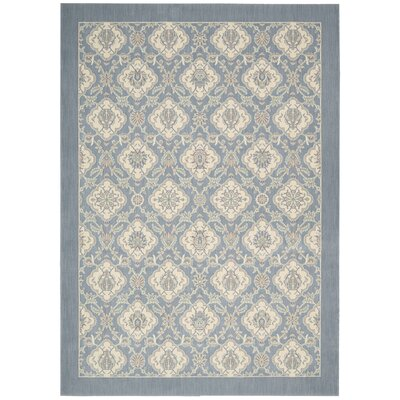Hinsdale Blue Area Rug Rug Size: Rectangle 36 x 56