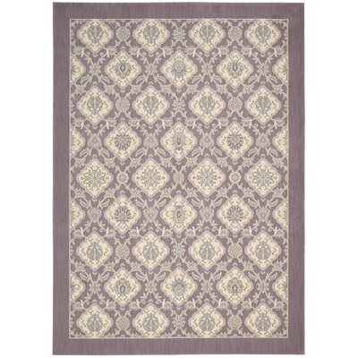 Hinsdale Violet Area Rug Rug Size: Rectangle 53 x 75