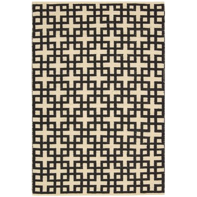 Maze Midnight Area Rug Rug Size: Rectangle 53 x 75