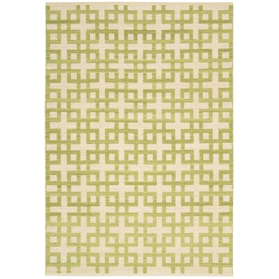 Maze Moss Area Rug Rug Size: Rectangle 53 x 75