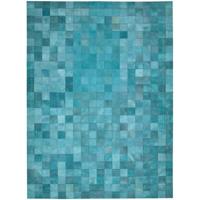 Medley Hand-Woven Blue Area Rug Rug Size: Rectangle 53 x 75