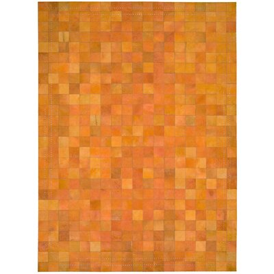 Medley Tangerine Area Rug Rug Size: Rectangle 53 x 75