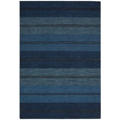 Oxford Blue Area Rug Rug Size: 3'6