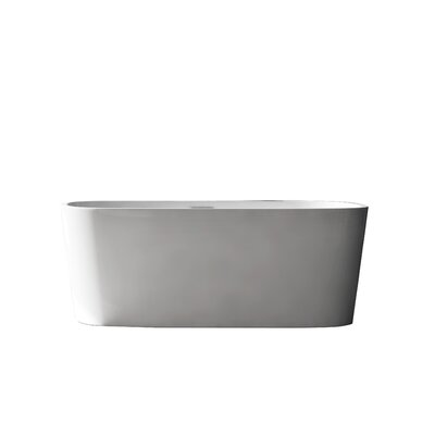 Creswell Acrylic 67 x 29.5 Freestanding Soaking Bathtub Color: Stainless Steel