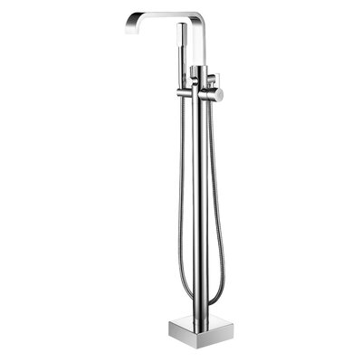 Braxton Single Handle Floor Mount Tub Faucet With Hand Shower