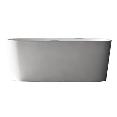 """Creswell Acrylic 67"""" X 29.5"""" Freestanding Soaking Bathtub"""