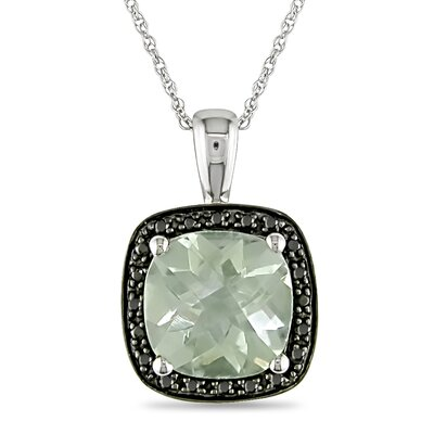 Rope Chain Round Cut Five Eighths of a Carat Green Amethyst and Tenth of a ...