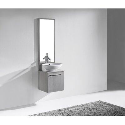 Alassio 17 Single Bathroom Vanity Set with Mirror Base Finish: Ash Grey