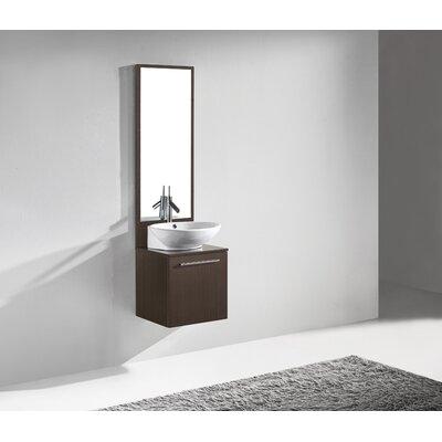 Alassio 17 Single Bathroom Vanity Set with Mirror Base Finish: Walnut