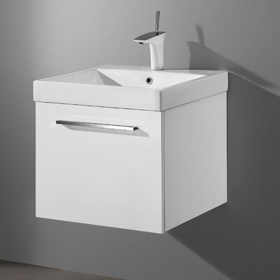 Arezzo 20 Single Bathroom Vanity Set Base Finish: Glossy White