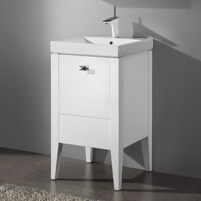 Andora 20 Single Bathroom Vanity Set Base Finish: Glossy White