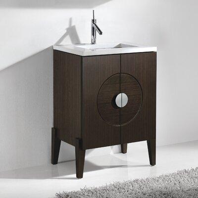 Genova 24 Single Bathroom Vanity Set Base Finish: Walnut