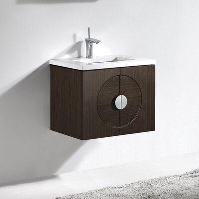 Palermo 24 Single Bathroom Vanity Set Base Finish: Walnut
