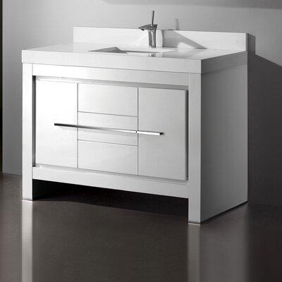 Vicenza 60 Single Bathroom Vanity Set Base Finish: Glossy White