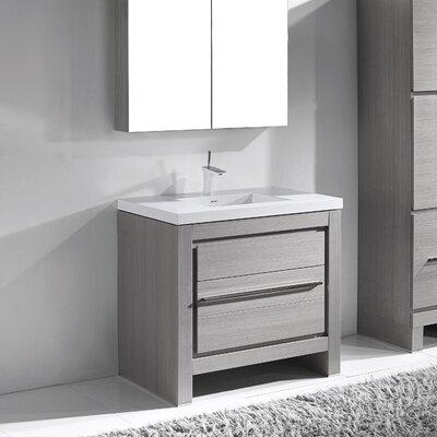 Vicenza 36 Single Bathroom Vanity Set Base Finish: Ash Gray