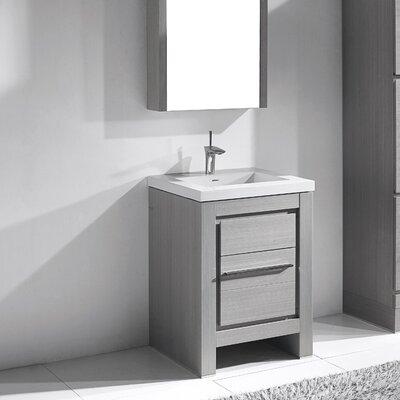 Vicenza 24 Single Bathroom Vanity Set Base Finish: Ash Gray