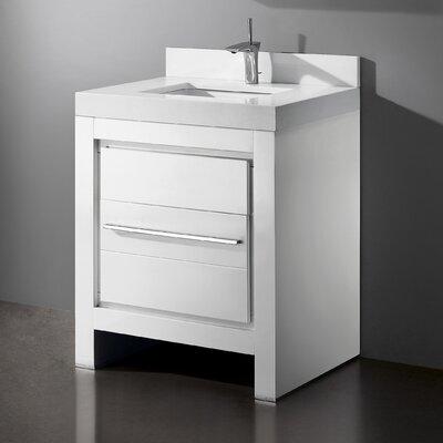 Vicenza 30 Single Bathroom Vanity Set Base Finish: Glossy White