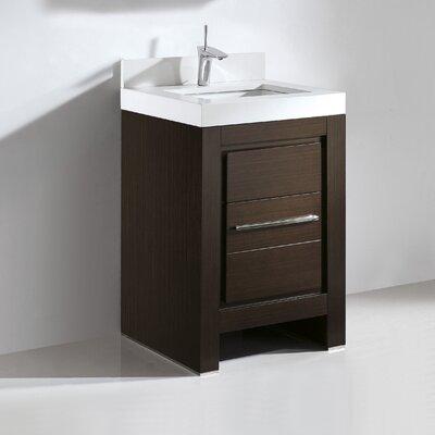 Vicenza 24 Single Bathroom Vanity Set Base Finish: Walnut