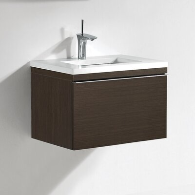 Venasca 24 Single Bathroom Vanity Set Base Finish: Walnut