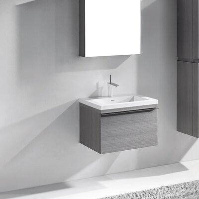 Venasca 24 Single Bathroom Vanity Set Base Finish: Ash Gray