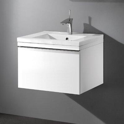 Venasca 24 Single Bathroom Vanity Set Base Finish: Glossy White