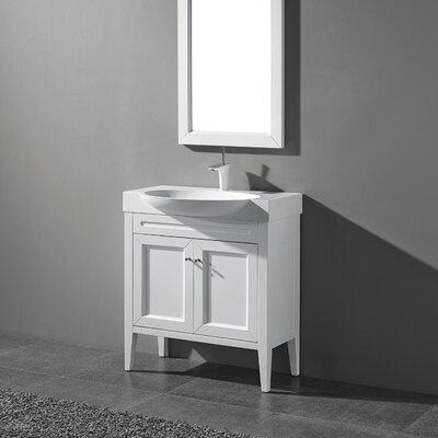 Sanremo 24 Single Bathroom Vanity Set Base Finish: Matte White