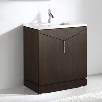 Savona 30 Single Bathroom Vanity Set Base Finish: Walnut