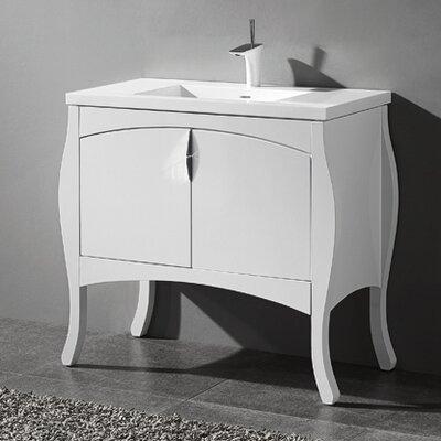 Sorrento 39 Single Bathroom Vanity Set Base Finish: Glossy White