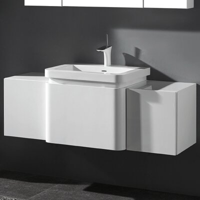 Euro 50 Single Vanity Set Finish: Glossy White