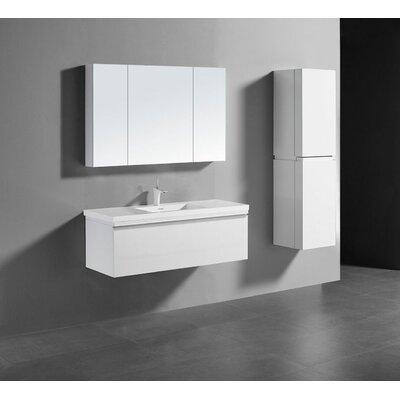 Venasca 48 Vanity Set with Single Sink Finish: Glossy White