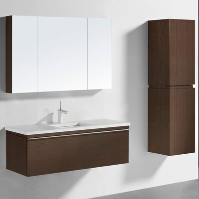 Venasca 48 Vanity Set with Single Sink Finish: Walnut