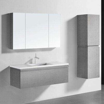 Venasca 48 Vanity Set with Single Sink Finish: Ash Gray