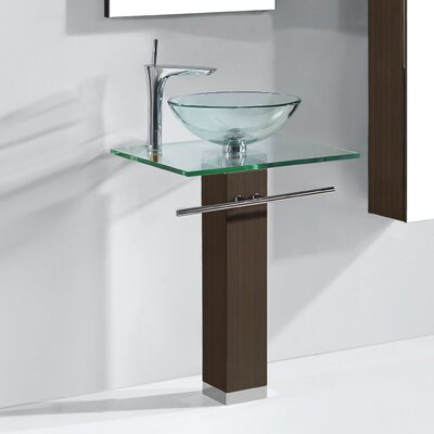 Rimini 24 Single Bathroom Vanity Set Base Finish: Walnut