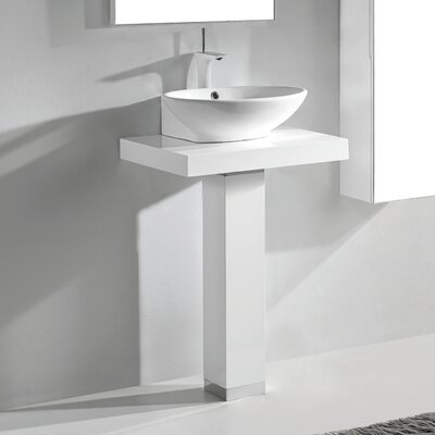 Rimini 24 Single Bathroom Vanity Set Base Finish: Glossy White