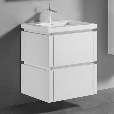 Cube 24 Single Vanity Set Base Finish: Glossy White