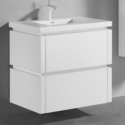 Cube 30 Vanity Set Base Finish: Glossy White