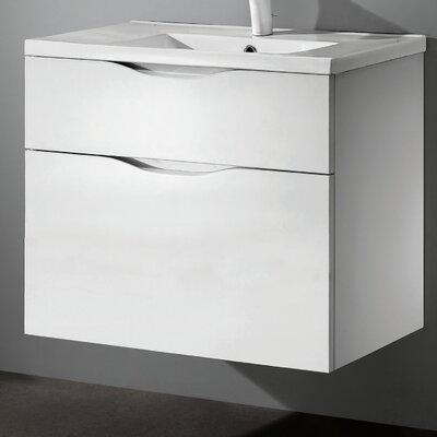 Bolano 30 Single Bathroom Vanity Set Base Finish: Glossy White