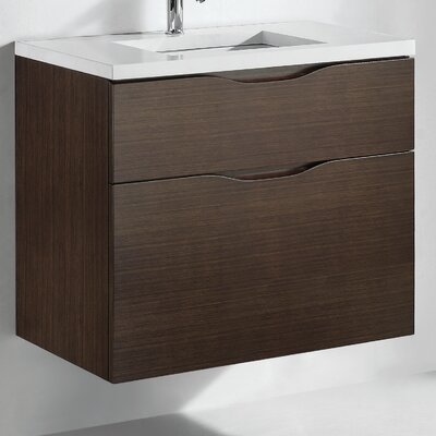 Bolano 30 Single Bathroom Vanity Set Base Finish: Walnut