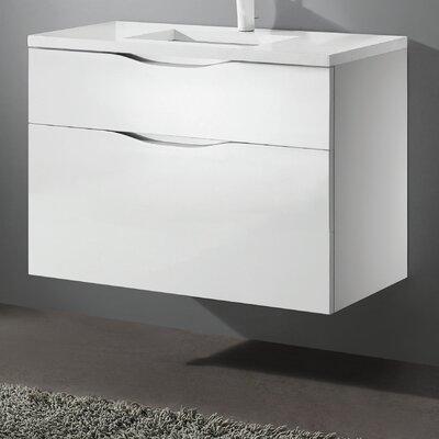 Bolano 48 Single Bathroom Vanity Set Base Finish: Glossy White