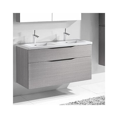 Bolano 48 Double Bathroom Vanity Set Base Finish: Ash Gray