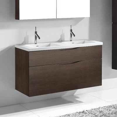 Bolano 48 Double Bathroom Vanity Set Base Finish: Walnut